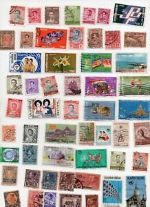 THAILAND Stamps 68 All Different - Off paper