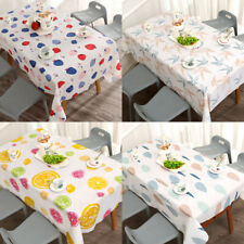 New PVC Waterproof Table Cloth Wipe Clean Party Tablecloth Rectangle Cover Cloth