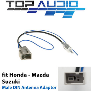 fit Honda Mazda Antenna Adapter Aerial Adaptor Male DIN plug cable connector