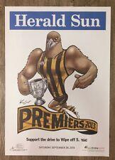 2013 Hawthorn Hawks Premiership Poster Knight / WEG 100% Original