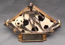 female soccer resin plate award trophy diamond DSR16