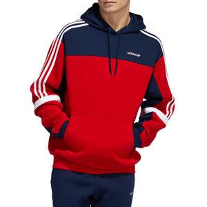 adidas Originals Men's Classics Hoodie - Red/Navy
