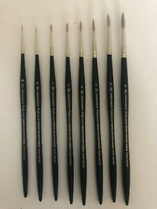 Winsor and Newton Artists Watercolour Sable Brushes Round-00-0-1-2-3-4-5-6