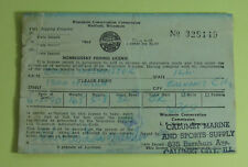 1964 Wisconsin Conservation Commission Calumet Non Resident Fishing License