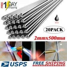 20pcs Aluminum Solution Welding Flux-Cored Rods Wire Brazing Rod 2MM x 50CM US