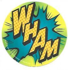 Wham Comic Book Art Sticker / Decal, Officially Licensed, DC Comics, Superhero