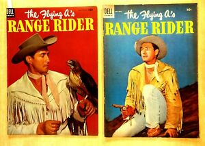 2 the FLYING A's RANGE RIDER #6 #7 1954 Photo Covers Jock Mahoney Western TV Lot