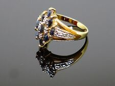 Vintage 0.4CTW Blue Spinel Gold Plated Sterling Silver Ring, 3.3g, Size 7