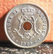 Beautiful 1903 BU 5 Centimes from Belgium Mintage only 864,000 KM# 46
