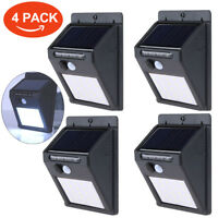 25 LED Solar Powered Motion Sensor PIR Waterproof Wall Light Outdoor Garden Lamp