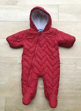 NEXT SNOWSUIT *0-3m BABY BOYS RED PADDED Winter Snowsuit AGE 0-3 MONTHS