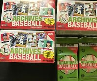 Lot of sealed 2020 Topps Archives Baseball (3) Blaster Box (2) Value Packs