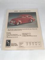 The Ertl Company Salesman Catalog Photo Page 6522EO 1939/40 Ford Sedan