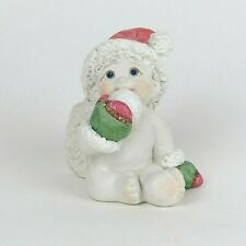 "Dreamsicles Tiny Tots Figurine Eating Snowball Holiday Decor 2.25"" Tall Signed"