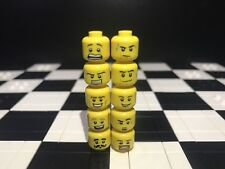 Lego Assorted Minifigure Heads  X10 Male / Boy / Guy / Spare Parts