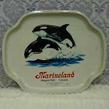 Vintage Marineland Niagara Falls Killer Whales Metal Tray John Holer Productions