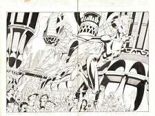 Thunderbolts #66 pgs. 2 & 3 - Jolt Dps - 2002 Signed art by Chris Batista