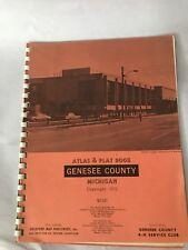 Original 1972 Genesee County Michigan Land Atlas & Plat Book Collectible
