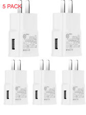 5 Pack Power Adapter Home WALL Charger Plug For  Samsung  Universal Cell Phone