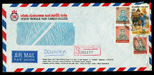 Thailand Chiang Mai 1984 / 2527 registered cover to Denmark (2118)
