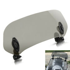 Adjustable Moped Scooter Windshield Extension Windscreen Deflector Clip On Smoke (Fits: Yamaha)