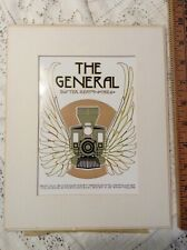 The General Buster Keaton 1926 David Lance Goines Litho Matte Ca