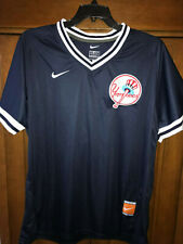 Babe Ruth New York Yankees jersey M navy blue V-Neck Cooperstown Collection