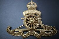 "Royal Canadian Artillery ""CANADA"" Banner Cap Badge"