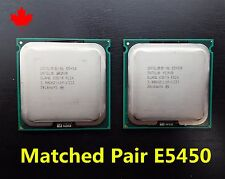 Matched Pair Intel Xeon Quad Core Processor E5450 3.00GHz 3GHz SLBBM SLANQ CPU