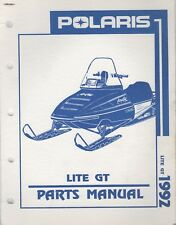 1992 POLARIS SNOWMOBILE LITE GT PARTS MANUAL 9912134 (123)