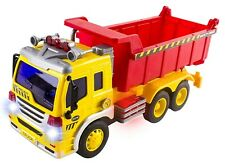 Friction Power Construction Dump Truck With Lights Sound Headlights Kids Toy