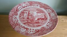 Spode Cranberry Italian Footed Cake Plate 27cm