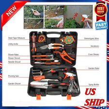 NEW 12 Pieces Garden Hand Tools Set Home Lawn Kit trowel Household Equipment US
