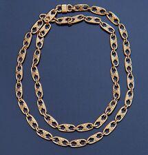 CELINE Paris Vintage Logo Link Chain Necklace Long