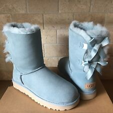 UGG SHORT BAILEY BOW II SUCCULENT WATER-RESISTANT SUEDE BOOTS SIZE 11 WOMENS