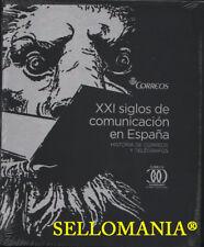 XXI SIGLOS DE COMUNICACION EN ESPAÑA LIBRO EDITADO POR CORREOS HISTORIA POSTAL