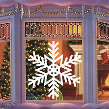 Christmas Snowflake Large Art Decal Vinyl Sticker Window Wall Or Panel