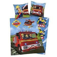 Bettwäsche FLANELL Feuerwehrmann Sam Notruf Geschenk COOL 135 x 200 cm NEU WOW