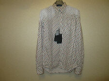 D'Squared Patterned Collar&Cuffs Wired Shirt