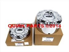 "2005-2012 Ford F450 F550 4x2 19.5"" Front & Rear Wheel Chrome Center Caps OEM NEW"