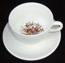 Wedgwood China Conway Pattern # AK8384 Footed Cup & Saucer Set 2 3/4""