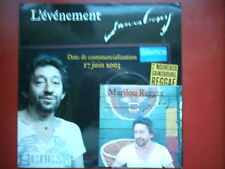 "SERGE GAINSBOURG - CD SINGLE PROMO ""MARILOU REGGAE"" + ARGU"