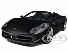 2012 2013 FERRARI 458 ITALIA SPIDER MATT BLACK 1/18 BY HOTWHEELS X5528