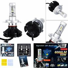 X3 H4/HB2/9003 LED Headlight Car Light Bulb Fog Lamp 6000LM 3000k 6500k 8000K