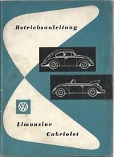 VW KÄFER Betriebsanleitung 1956 Bedienungsanleitung CABRIOLET LIMOUSINE  BA