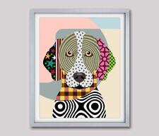 Art German Shorthaired Pointer Pop Print Dog Puppy Pet Giclée Modern Painting