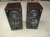 2x Denon USC 250 Stereo Lautesprecher / Mahagoni Dekor, 2 Jahre Garantie