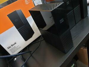 WD MyBook 8TB external USB hard drive, Western Digital My Book 8 TB USB3 HDD