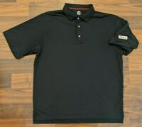 FJ Footjoy Titleist Golf Mens Polo Striped Black Size XL