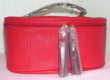 New Elizabeth Arden Red Train Cosmetic Makeup Case Top Handle ~ SOFT case ~